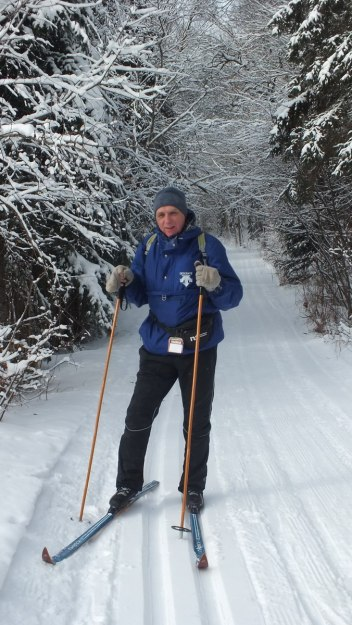 Bob on the Fen Lake x-ski trail - Algonquin Park - Ontario