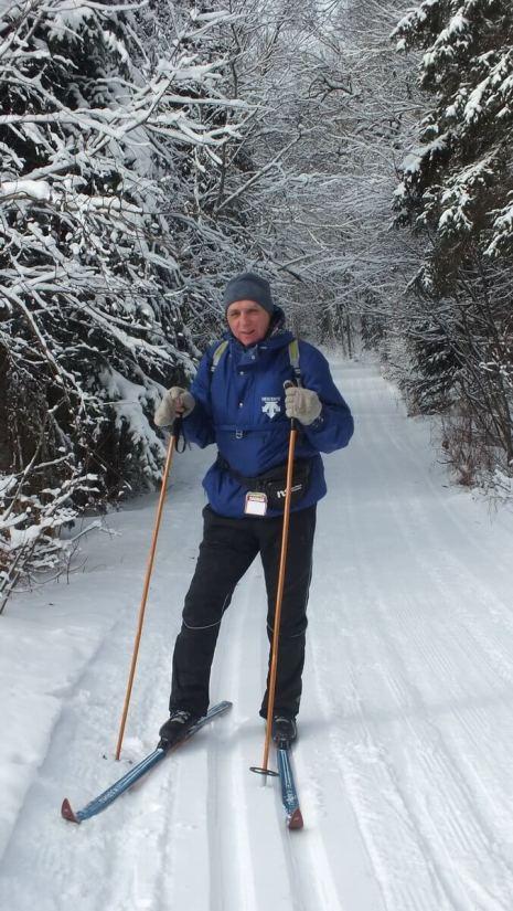 Bob on the Fen Lake x-ski trail - Algonquin Park - Ontario