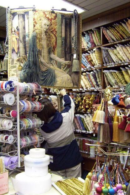 Jean checkout textiles in Paris - France