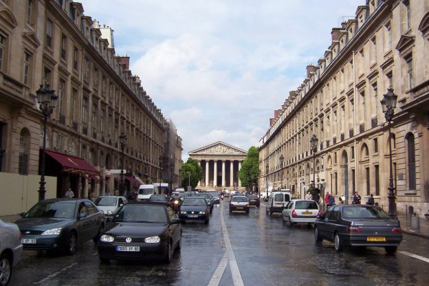 La Madeleine Church at the top of Rue Royale - Paris