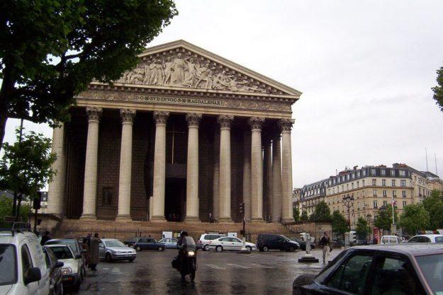 La Madeleine Church on a wet morning - Paris - France