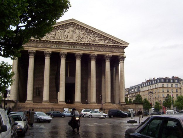 La Madeleine Church on a wet morning - Paris - France