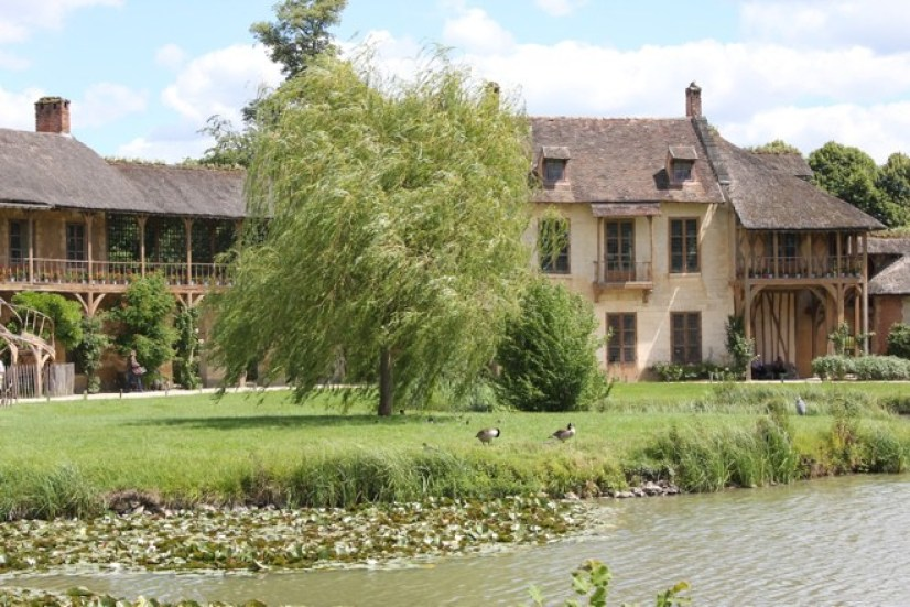 An image of the Hamlet of Marie-Antoinette at Versailles in France.