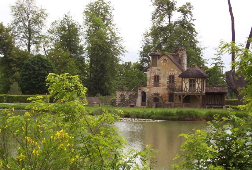 An image of the Mill in the Hamlet of Marie Antoinette at Versailles in France.