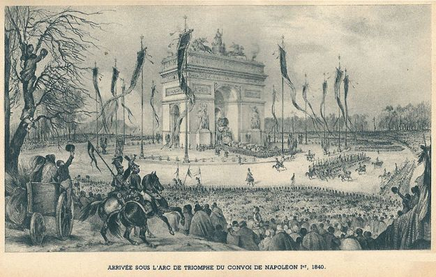 Napoleon's ashes are returned to Paris in 1840