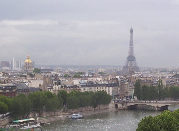 Paris on a rainy morning