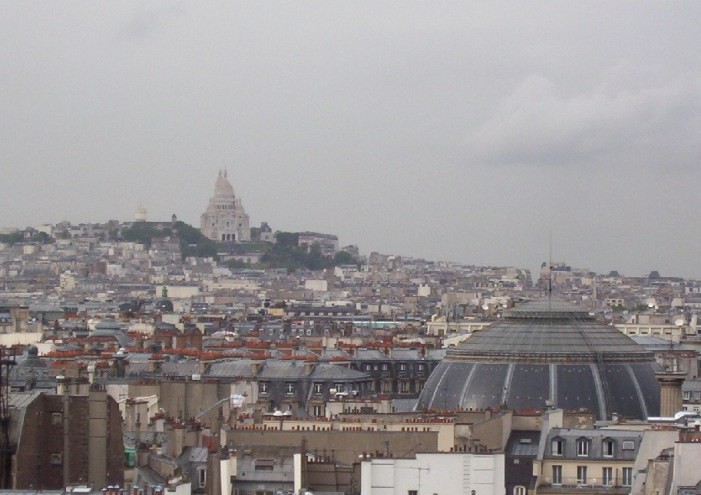 Sacre Coeur - high above Paris - France