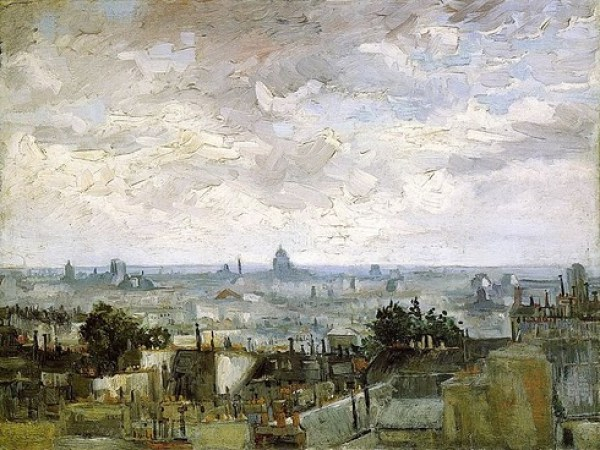 The Roofs of Paris - 1886 by Vince Van Gogh