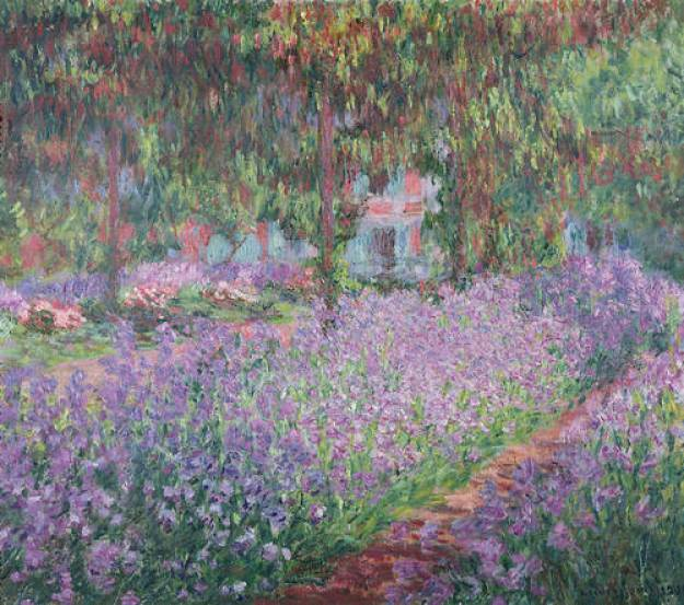 An image of Claude Monet's Garden at Giverny 1900, Musee d'Orsay, Paris.