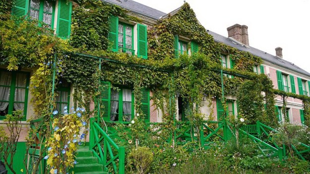 An image of Claude Monet's home in Giverny, France.