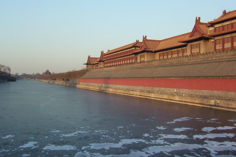 Frozen canal - Forbidden City - Bejing - China