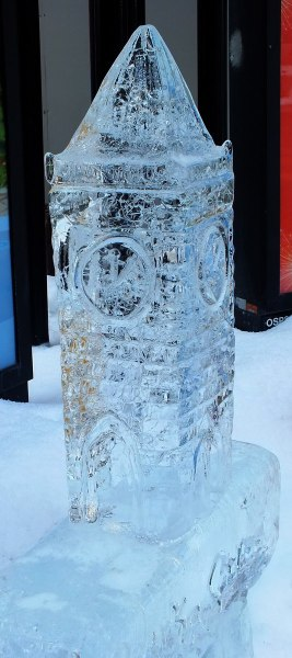 Peace Tower sculpture in ice - Winterlude - Ottawa