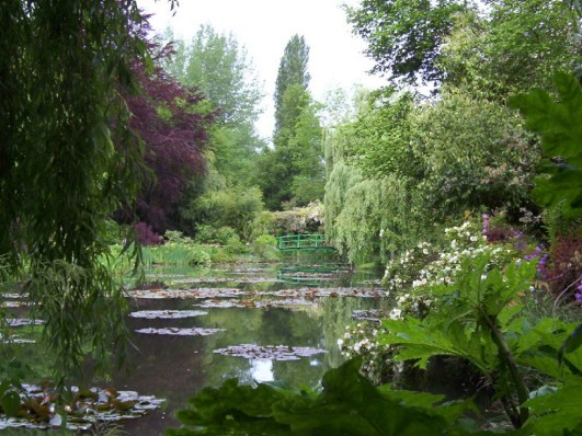 Water reflections - Claude Monet Water Lily Pond in Giverny - France