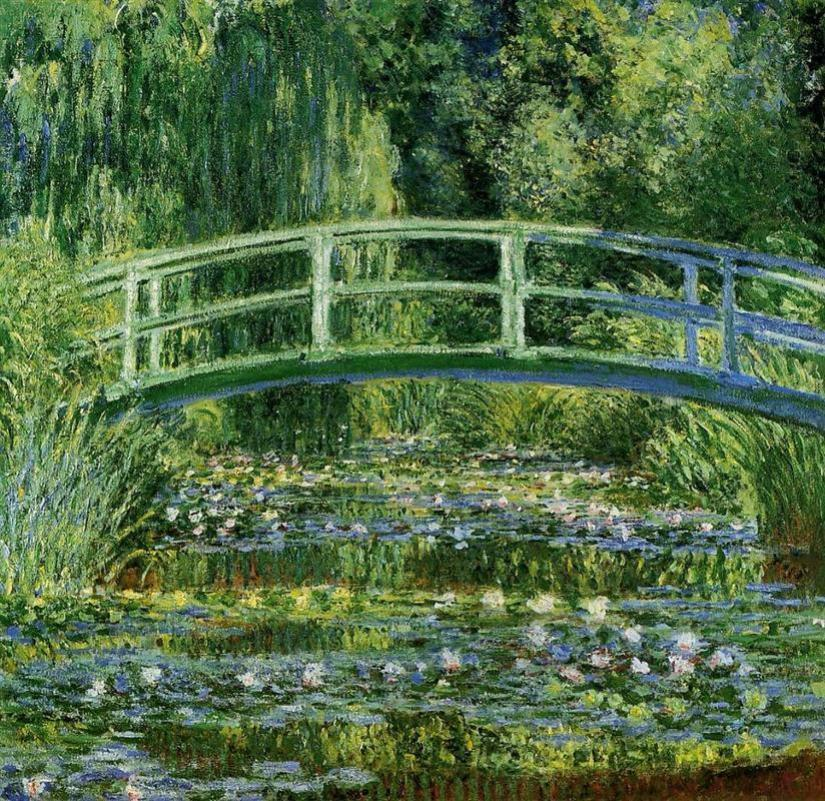 An image of the The Japanese Bridge by Claude Monet.