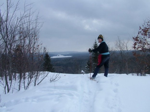 Photo of Jean, with Fraser Lake on the horizon - Algonquin Park