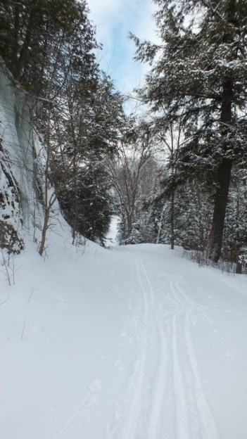Photo of the Leaf Lake ski trail in Algonquin Park - Ontario