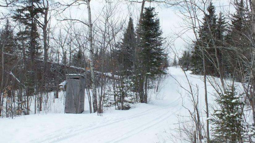 Pinetree Loop, leaf lake ski trail, Algonquin Provincial Park, Ontario, Canada