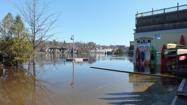 Huntsville flooding - on the docks flooding - Ontario - April 21 2013