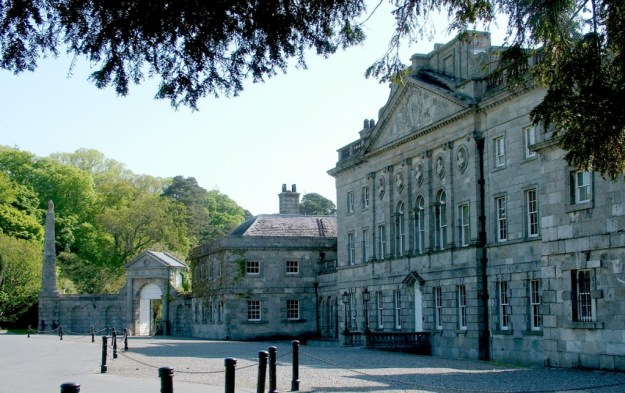 Powerscourt main building at front - Ireland