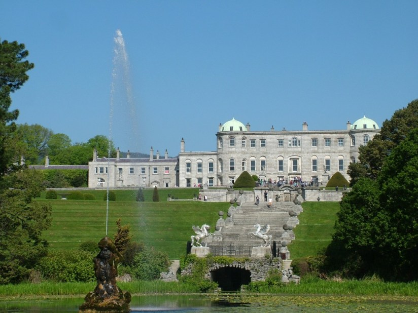Powerscourt - south front of house - Ireland
