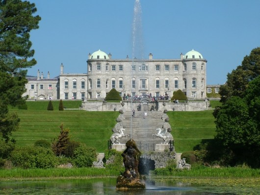 An image of Powerscourt House and Gardens in Ireland.