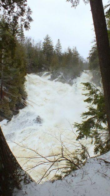 Ragged Falls - spring rush - Oxtongue River - Ontario - April 20 2013