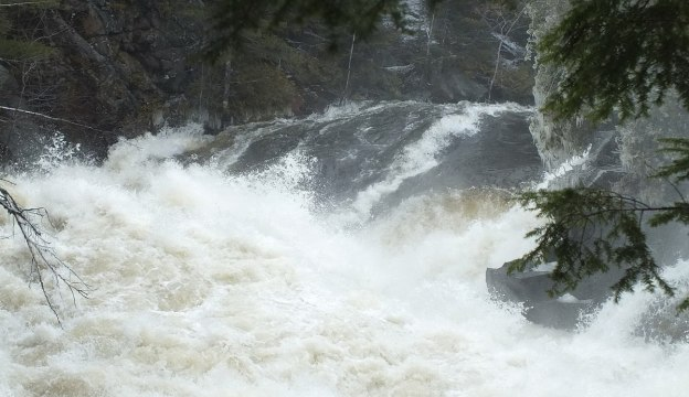 Ragged Falls - top of falls on leftside - Oxtongue River - Ontario - April 20 2013