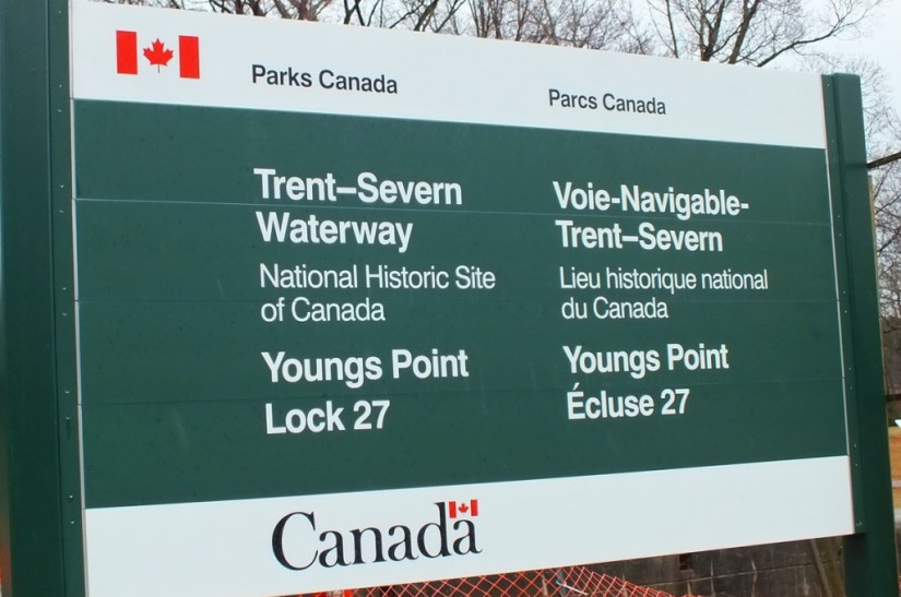 Trent Severn Waterway sign - Youngs Point - Ontario - Canada