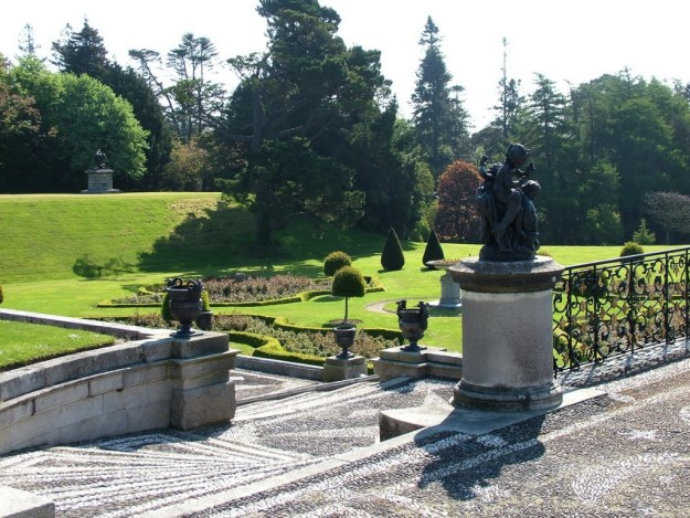 Walled Garden staircase - Powerscourt - Ireland