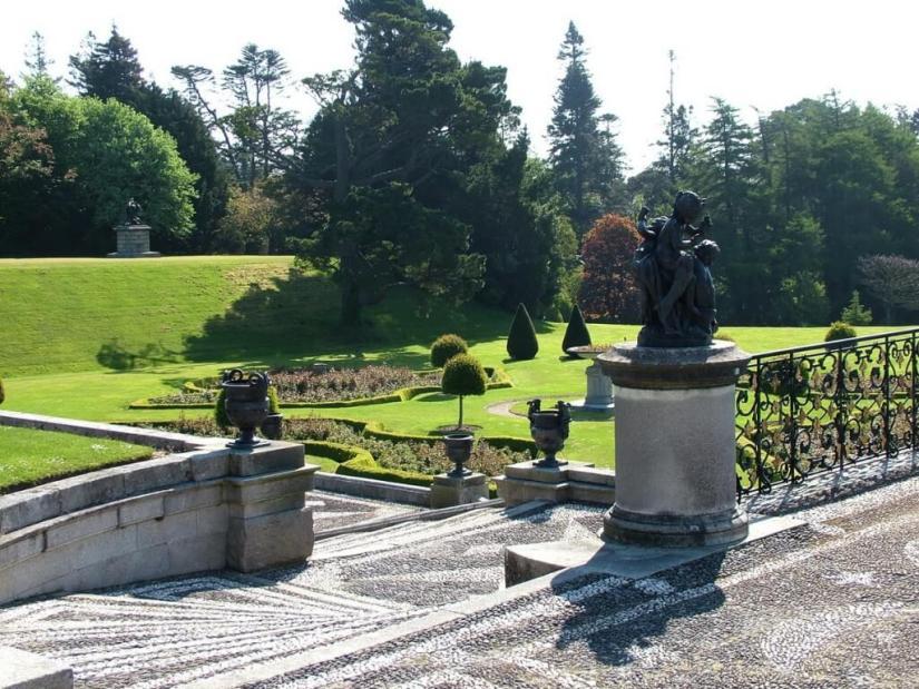 Walled Garden staircase - Powerscourt - Ireland