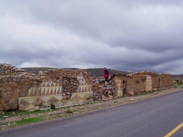 Abandoned village in mountain highlands, Peru