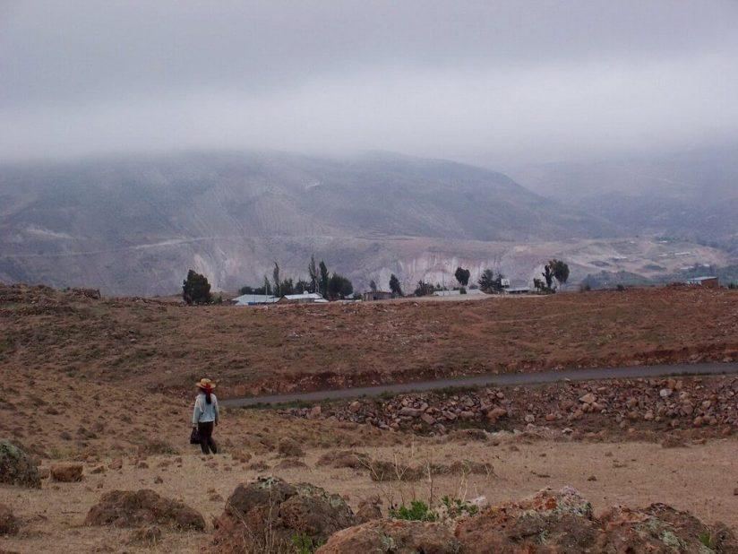 Changing hillsides along Highway 26, Peru