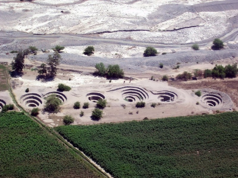 Nazca Puquios and Aqueduct system - peru - south america