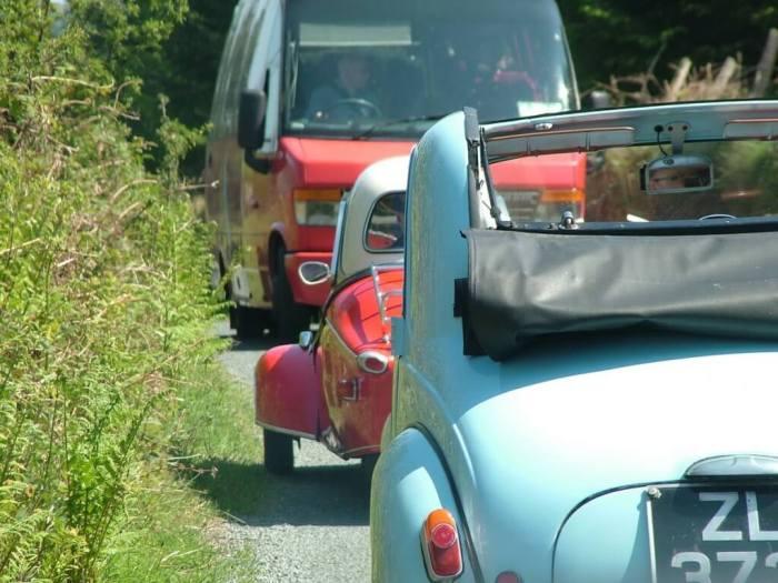 Red Messerschmitt KR- 175 microcar - Enniskerry - Wicklow - Ireland