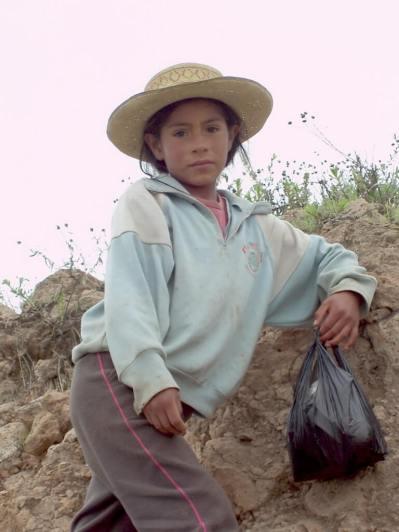 Young girl near Nazca, Peru