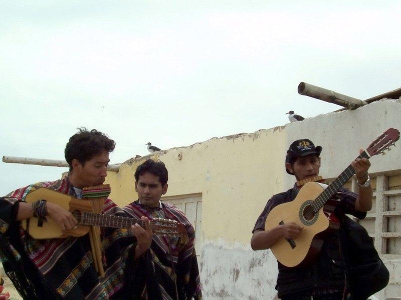 a Mariachi band plays for us at village of Lagunillas- Peru