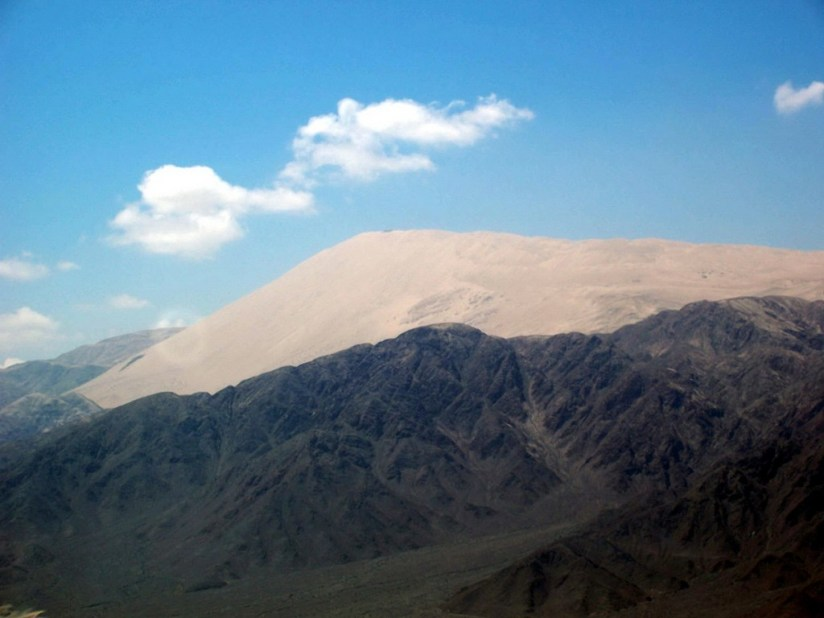 Cerro Blanco sand mountain near Nazca, in Peru