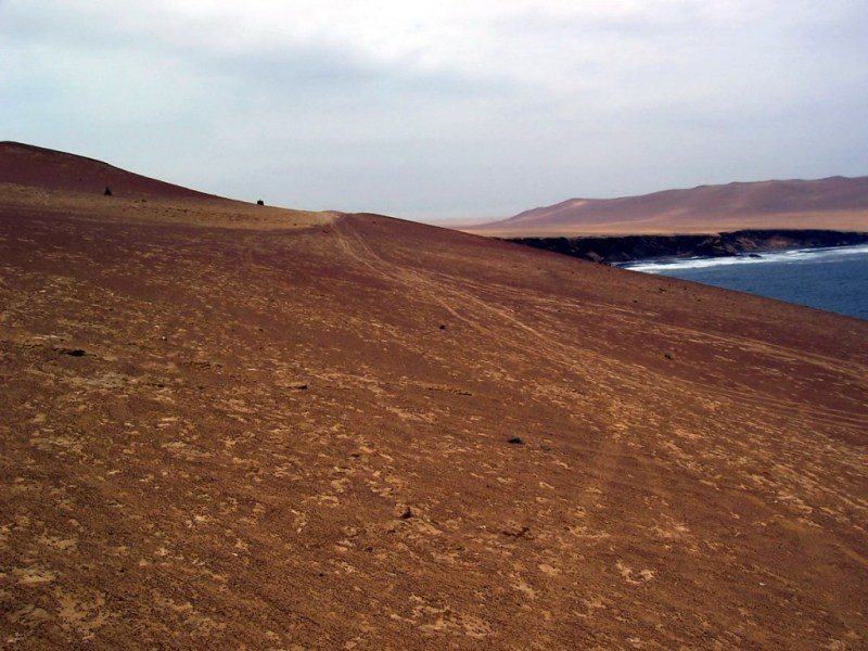 desert roadway - National Reserve of Paracas - Peru