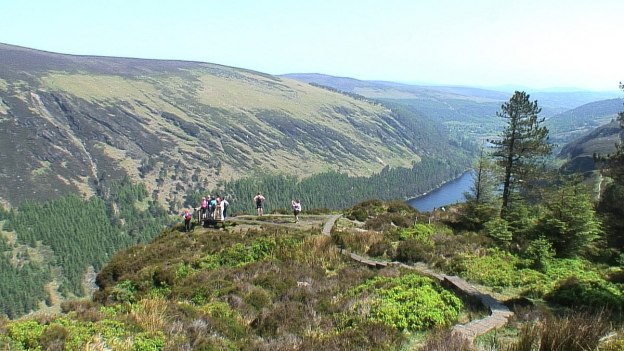 lookout - the spinc hiking trail - wicklow mountains national park - ireland