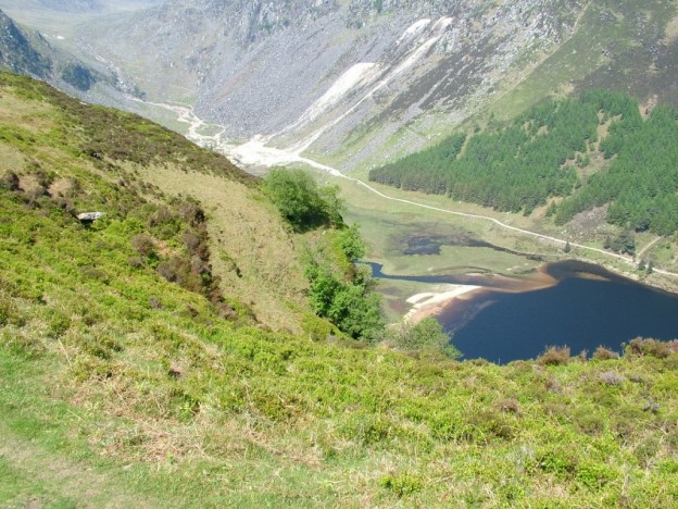 miner's road - upper lake - wicklow mountains national park - ireland