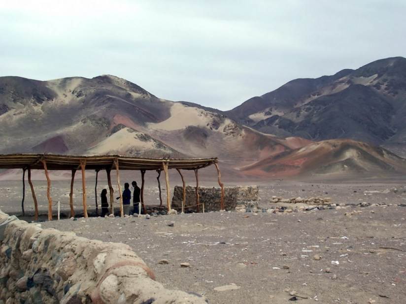 The Chauhilla Cemetery in the desert near Nazca in Peru, South America.