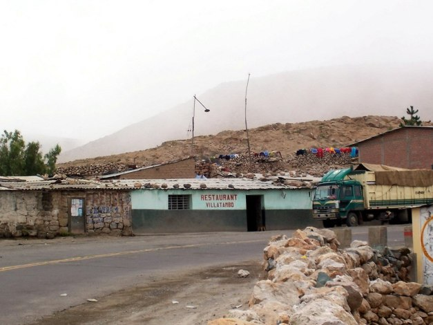 Restaurant along highway 26 near Nazca, Peru, South America