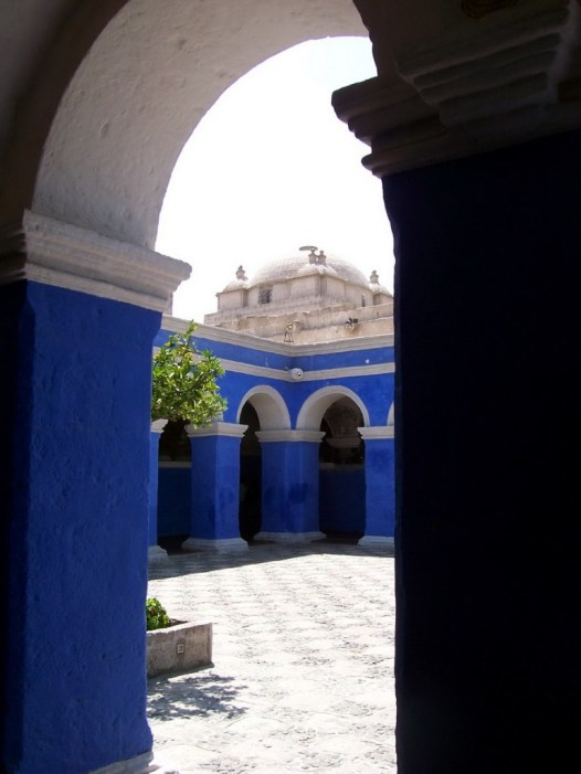 Corner of Orange Tree Cloister, Arequipa, Peru