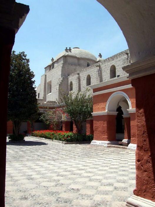 Main red painted Cloister, Santa Catalina De Siena Convent