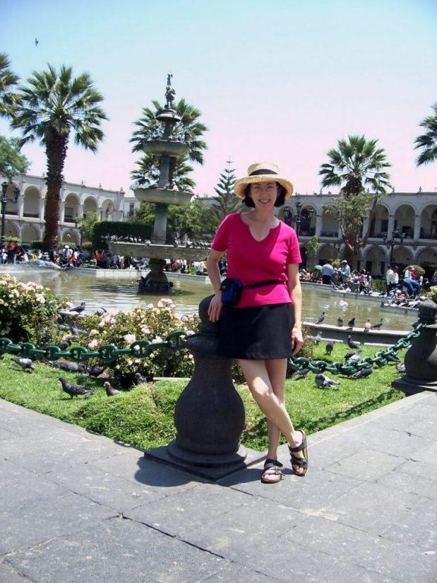 jean in Main Square, Arequipa, Peru