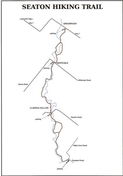 seaton hiking trail map
