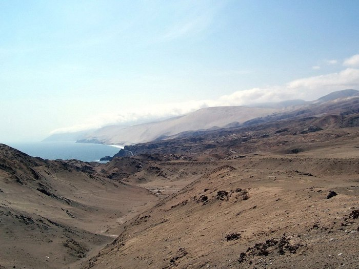 southern desert coastline of peru