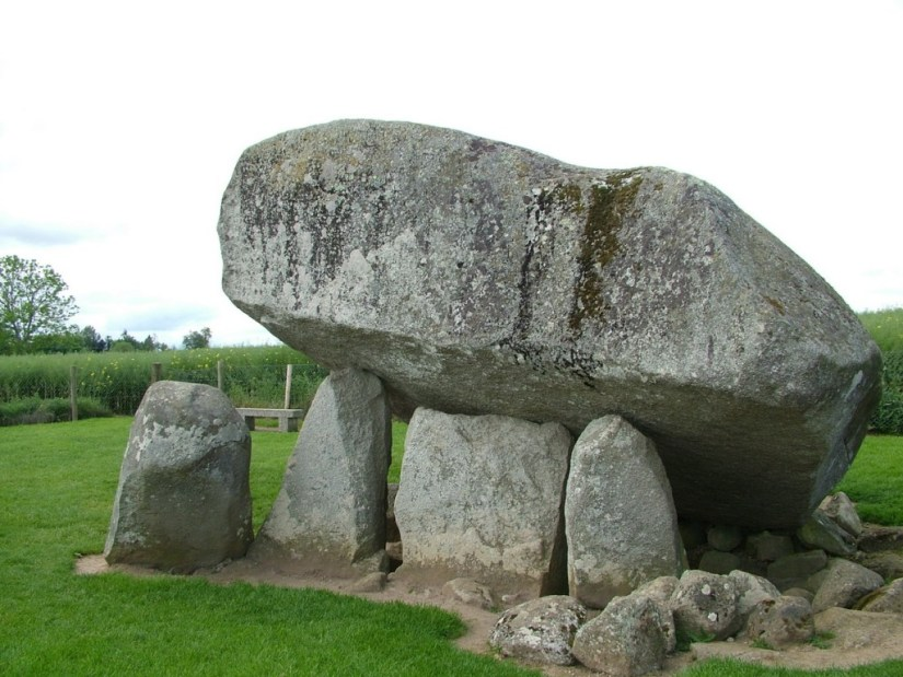 An image of the Brownshill Portal tomb in County Carlow in Ireland. Photography by Frame To Frame - Bob and Jean.