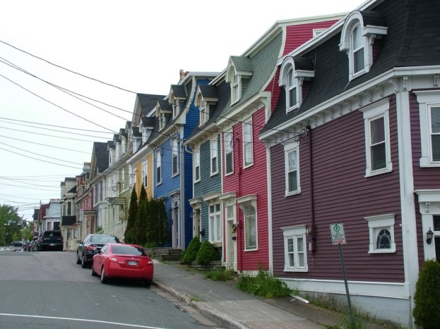 colorful homes in St John's in Newfoundland - Canada