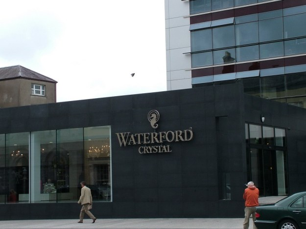 An image of the exterior of House of Waterford Crystal in Waterford, Ireland. Photography by Frame To Frame - Bob and Jean.